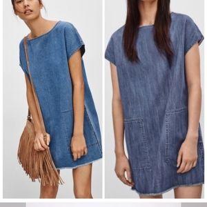 Aritzia Wilfred Free Nori Denim Dress